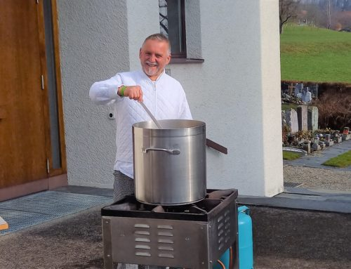Ökum. Gottesdienst mit Take-away-Suppe in Sitterdorf